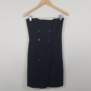Anne Klein Wool Strapless Mini Dress Size 8